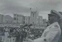 Franco en Sidi Ifni en 1950