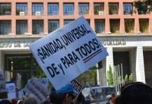 Marea blanca frente al Ministerio de Sanidad / Fotos Agustín Millán