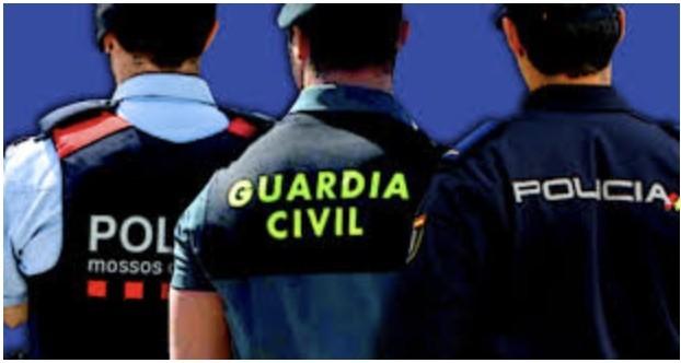 mosso guardia civil y policia