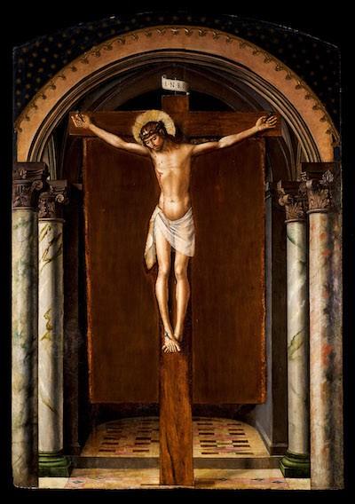 Prado Cristo en la cruz Pedro Berruguete