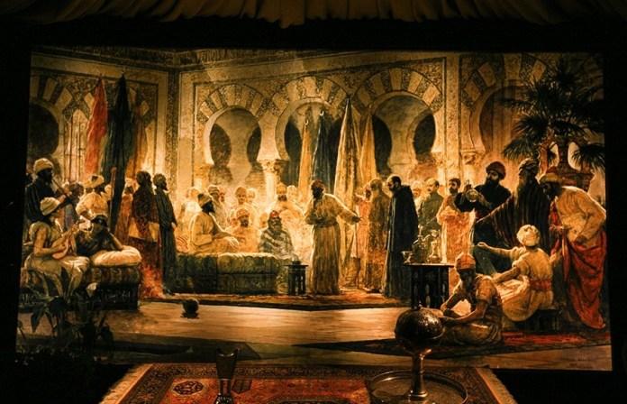Córdoba: mural del monje Nicolas y Abderramán III