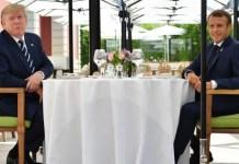 Macrón y Trump en Biarritz, Cumbre G7, AGO 2019.