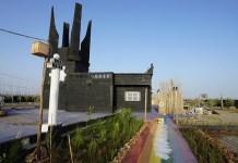 Memorial del Holocausto cerca de Marraquech antes de la destrucción