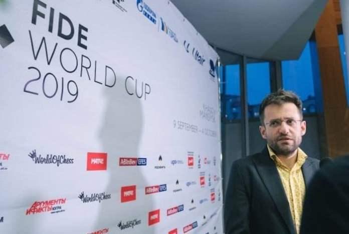 Levon Aronian en la Copa del Mundo 2019 que se disputa en Rusia