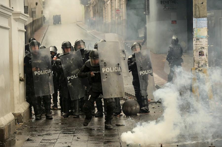 Actuación policial en Ecuador