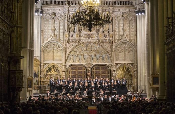 Concierto Perhgolesi. Puerta de los Leones, crucero sur, catedral de Toledo
