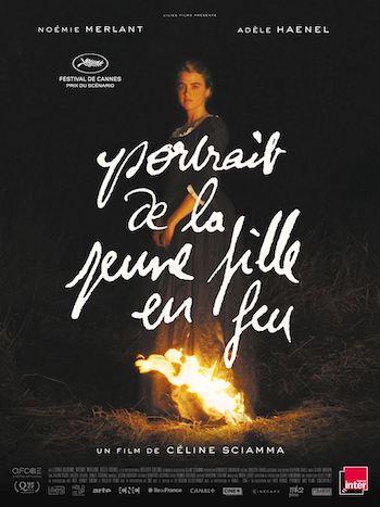 cartel de mujer en llamas