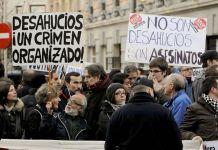 Protestas en España contra desahucios que vulneran derechos humanos
