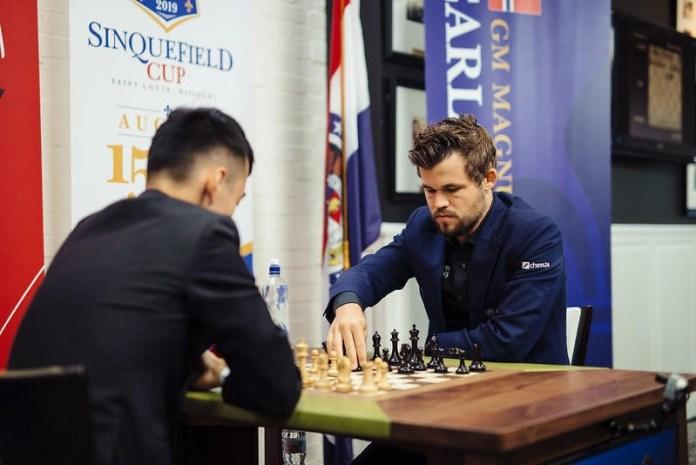 Partida entre Carlsen y Liren disputada en San Luis