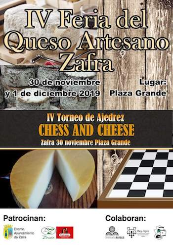 Cartel Chess and Cheese de Zafra 2019