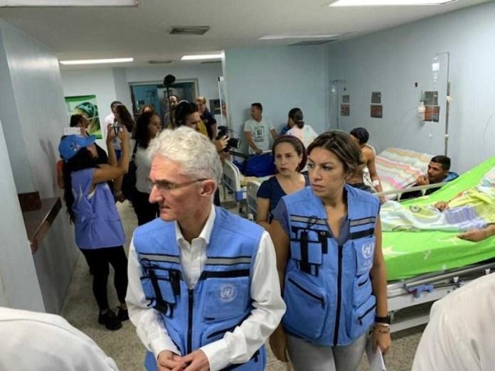Mark Lowcock hospital Venezuela