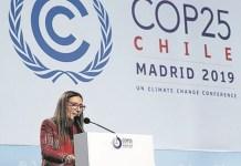 Carolina Schmidt, presidenta chilena de la COP25.