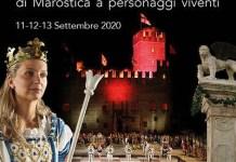 Cartel oficial partida viviente Marostica 2020
