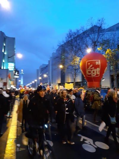 Manifestaciones en Francia el 17 de diciembre de 2019
