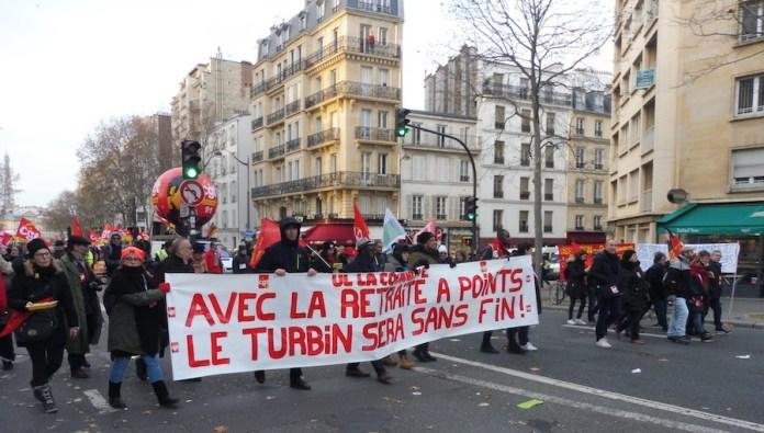 París, 10DIC2019: La pensión por puntos es  el curro sin fin