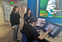 Profesores y alumnos del Magic Miami Animation and Gaming International Complex del Miami Dade College