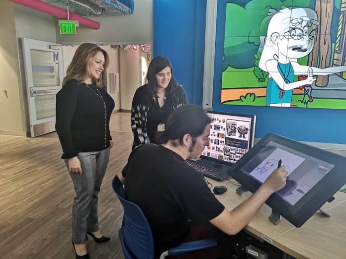 Profesores y alumnos del Magic Miami Animation and Gaming International Complex del Miami Dade College