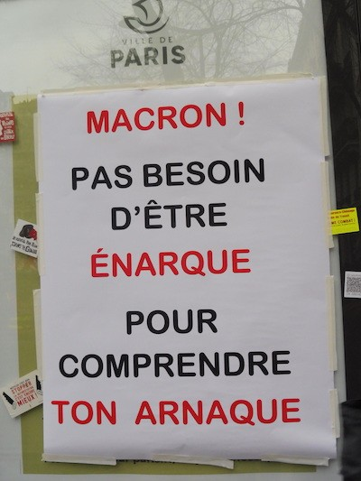 Paris cartel Macron enarque