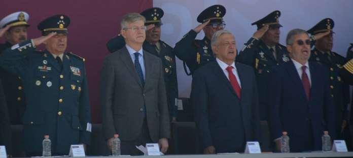 UNIC Mexico: El jefe de Operaciones de Paz de la ONU, Jean Pierre Lacroix, junto al presidente de México, Andres Manuel López Obrador, atienden la inauguración del CECOPAM.