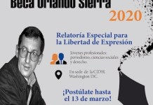Beca Orlando Sierra 2020 banner