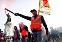 Francia, protestas contra la reforma por decreto de las pensiones publicas del gobierno de Emmanuel Macron