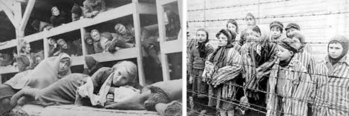 Auschwitz: mujeres y niños gitanos