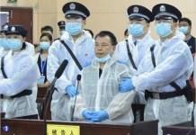 Chen Jieren en la sala de vistas en la que se le juzgaba en China