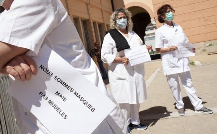 Francia: movilizaciones del personal sanitario en Montauban
