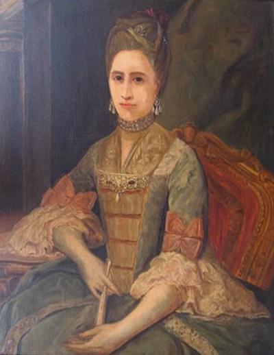 Retrato de Josefa de Jovellanos (1745-1807), quien era apodada la Argandona y fue hermana del político e ilustrado español Gaspar Melchor de Jovellanos (1744-1811). Este retrato es una copia del que pintó Joaquín Inza de la misma dama antes de 1774