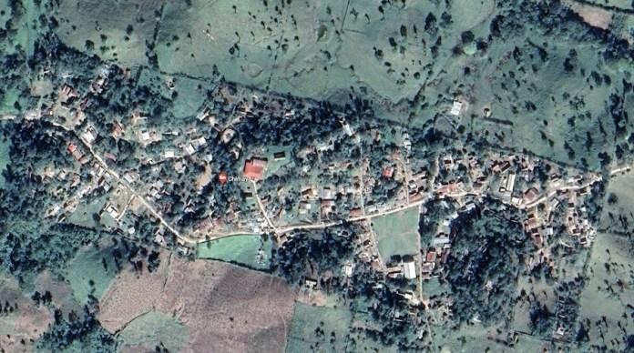 Vista aérea de la Aldea Chimay, en el municipio de San Luis, Petén, Guatemala. Google maps