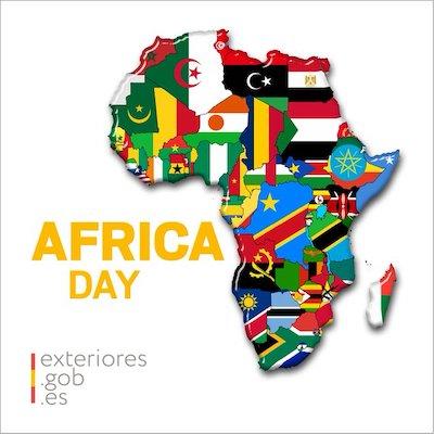 Banderas del MAEC con motivo del Día de África 2020