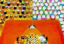 Mordillo ajedrez blancas y negras