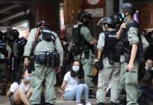 Hong Kong represión policial 1JUL2020