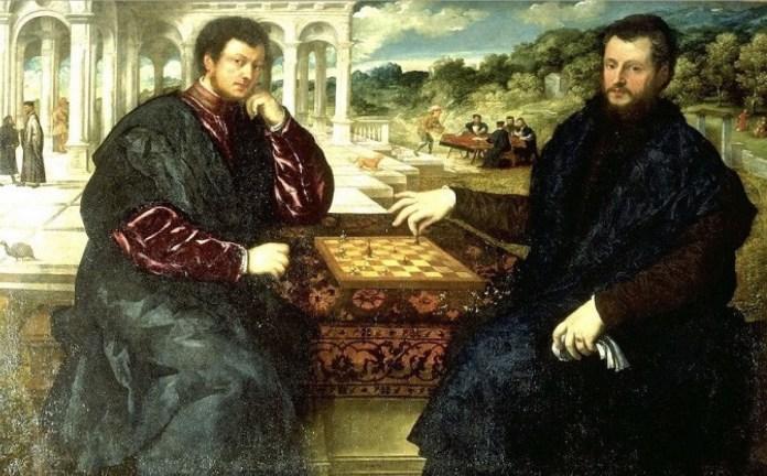 'Los jugadores de ajedrez' del discípulo de Tiziano, Paris Bordone.