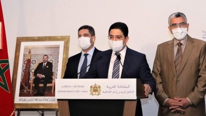 Nasser Bourita en rueda de prensa