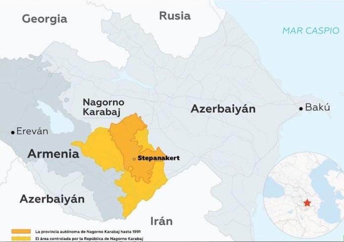 Armenia Azerbaiyán zona del conflicto