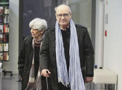 Quino con su esposa, Alicia Colombo fallecida en 2017