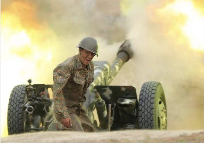 Artillería disparo