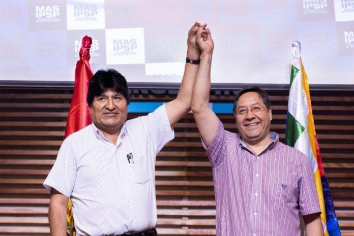 Luis Arce con Evo Morales