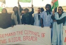 Manifestantes saharauis en El Guerguerat OCT2020