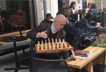 Moscú ajedrez en la calle