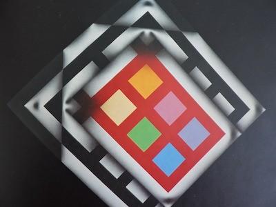 Omar Rayo: Samurai XXI, 1982. Acrilico sobre tela. 40x40.