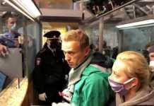 Navalny detenido en Moscú
