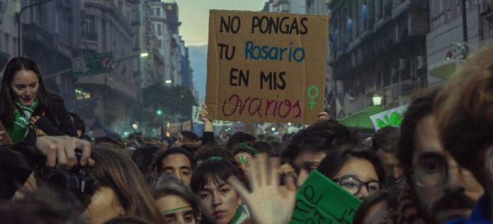 Aborto legal en Argentina, manifestación reivindicativa