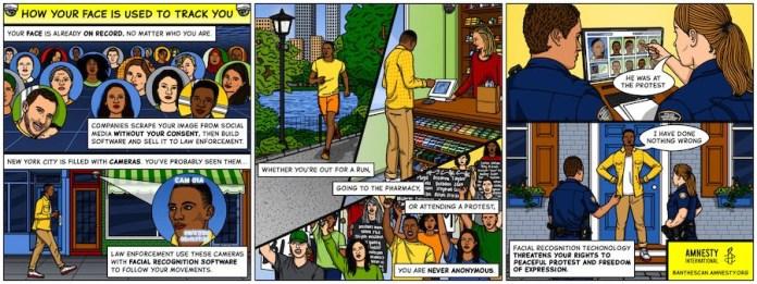 NY contra el reconocimiento facial viñetas