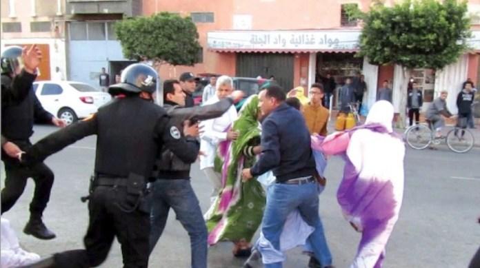 Represión policial en el Sahara