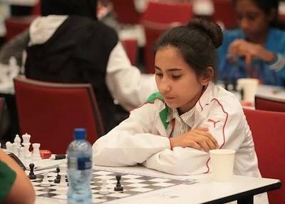 La joven argelina Lina Nassr, ganadora del campeonato africano y árabe