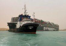 Megabarco Evergreen canal de Suez