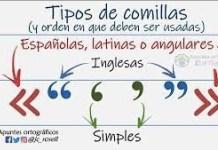 Comillas inglesas y latinas