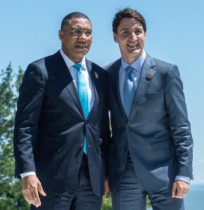Holness y Trudeau